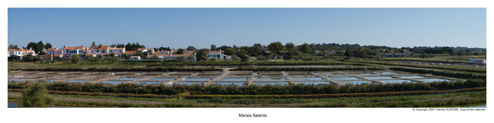 Panoramique Marais salants