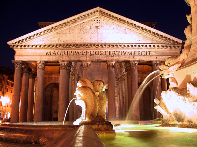 Panteon in Rom bei Nacht