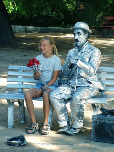 Pantomime und sein Gast