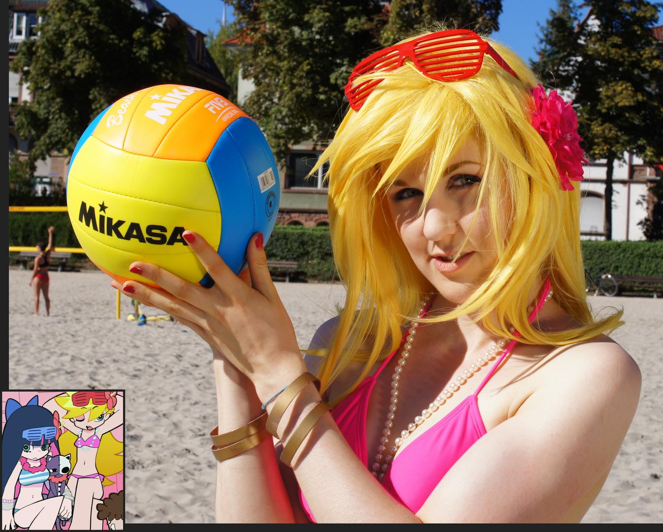 Panty & Stocking @ Daten Beach – Volleyball 3