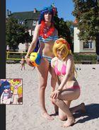 Panty & Stocking @ Daten Beach – Volleyball 7