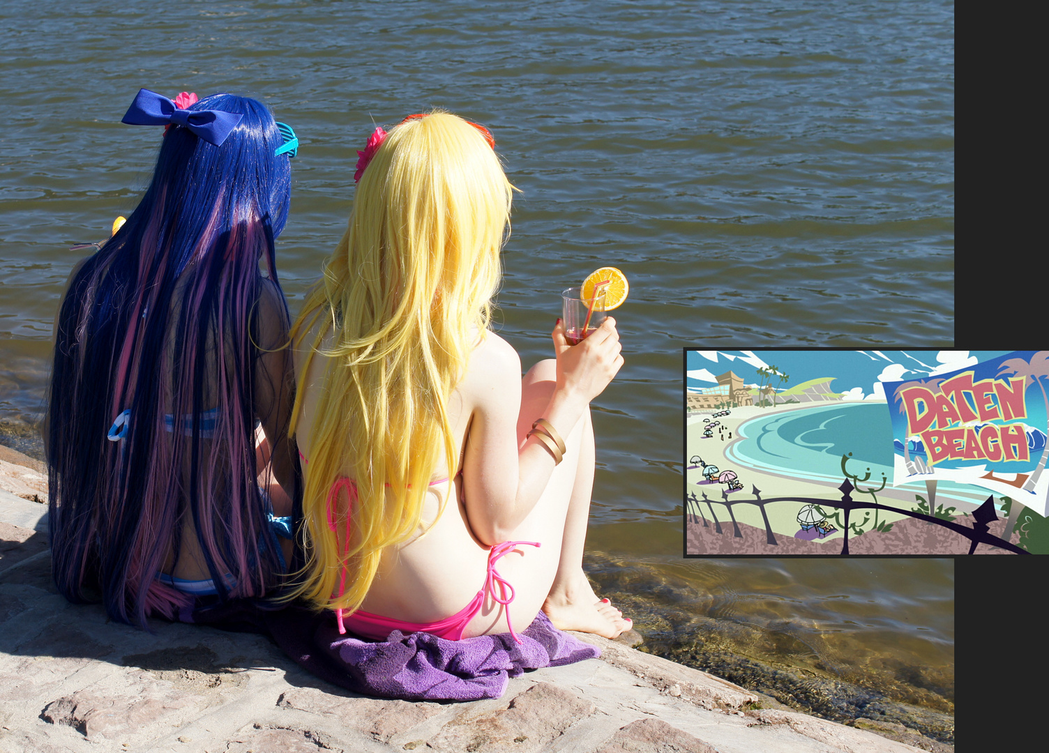 Panty & Stocking @ Daten Beach – Wait and see