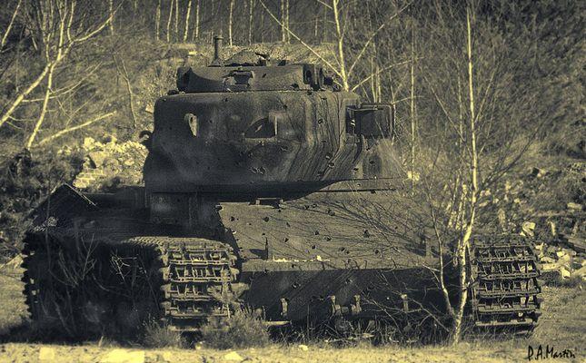 Panzer am Wegesrand in NRW