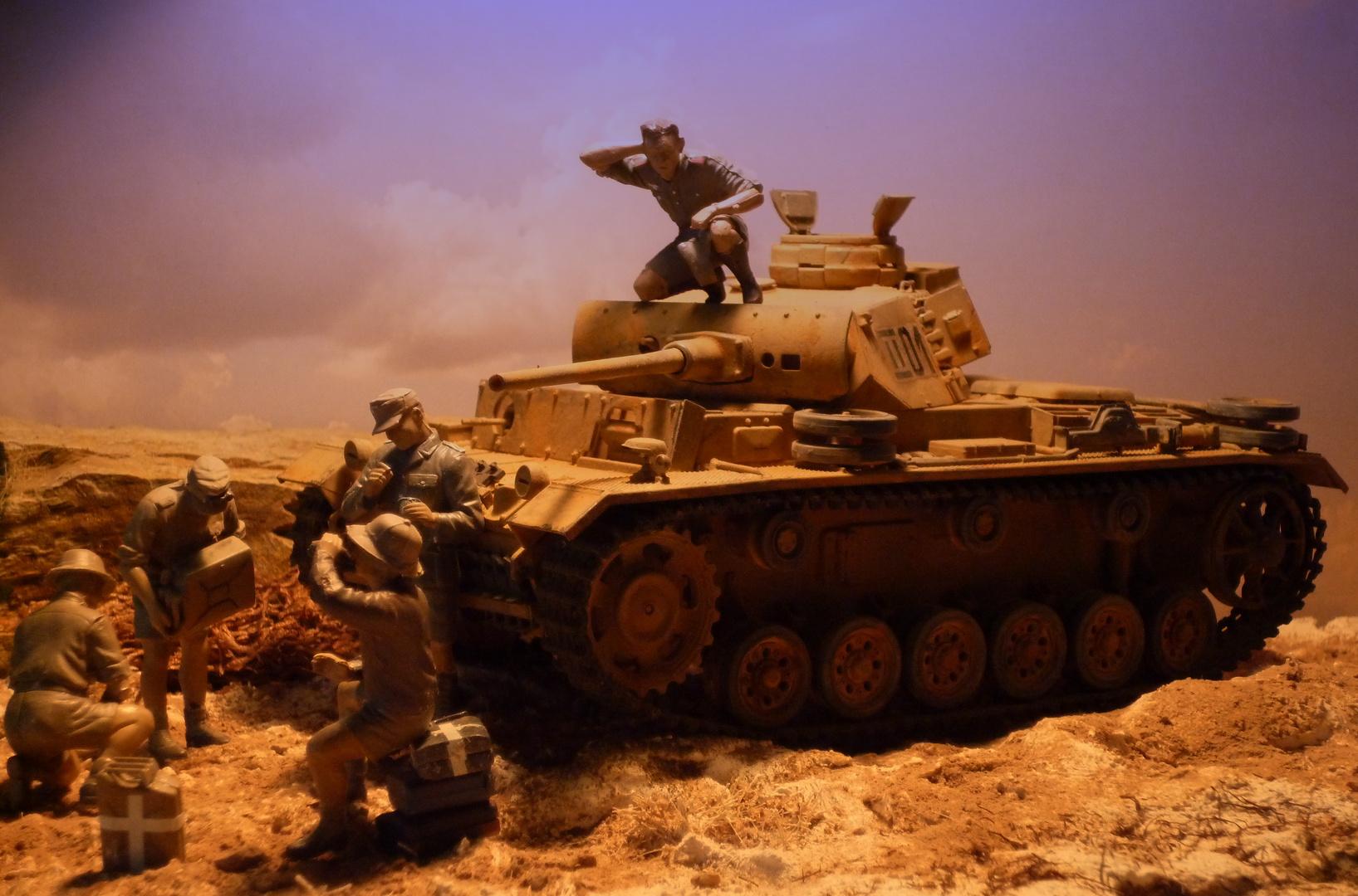 Panzer III vor El Alamein