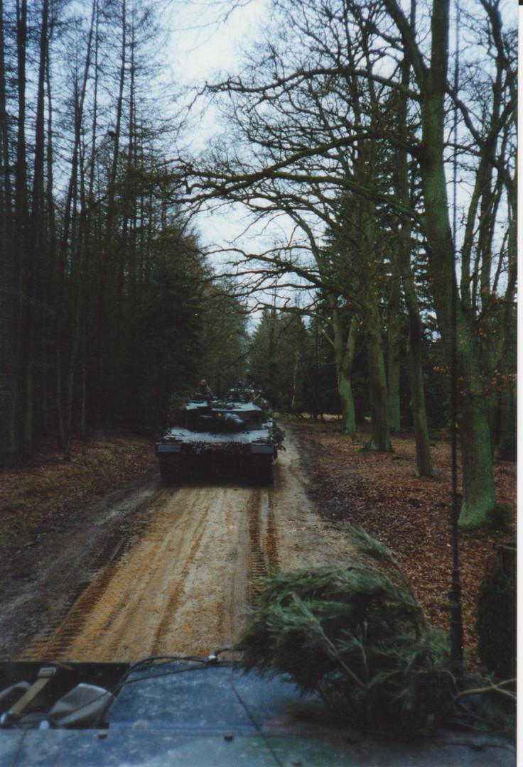 Panzer in Stellung Übung TrÜbPl Bergen
