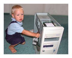 Papa - der Rechner geht gleich wieder!