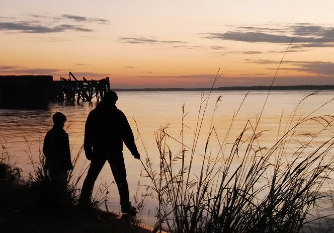 Papá e figlio di pesca