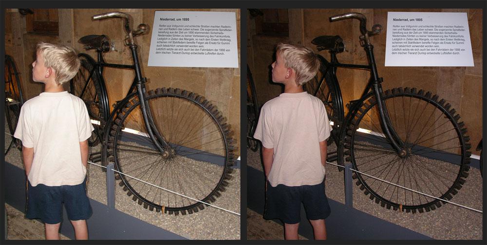 "Papa, was ist das? ""Mountain Bike Bereifung 1895"""