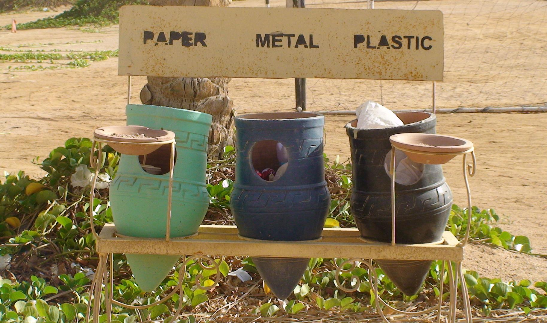 Paper, Metal, Plastic