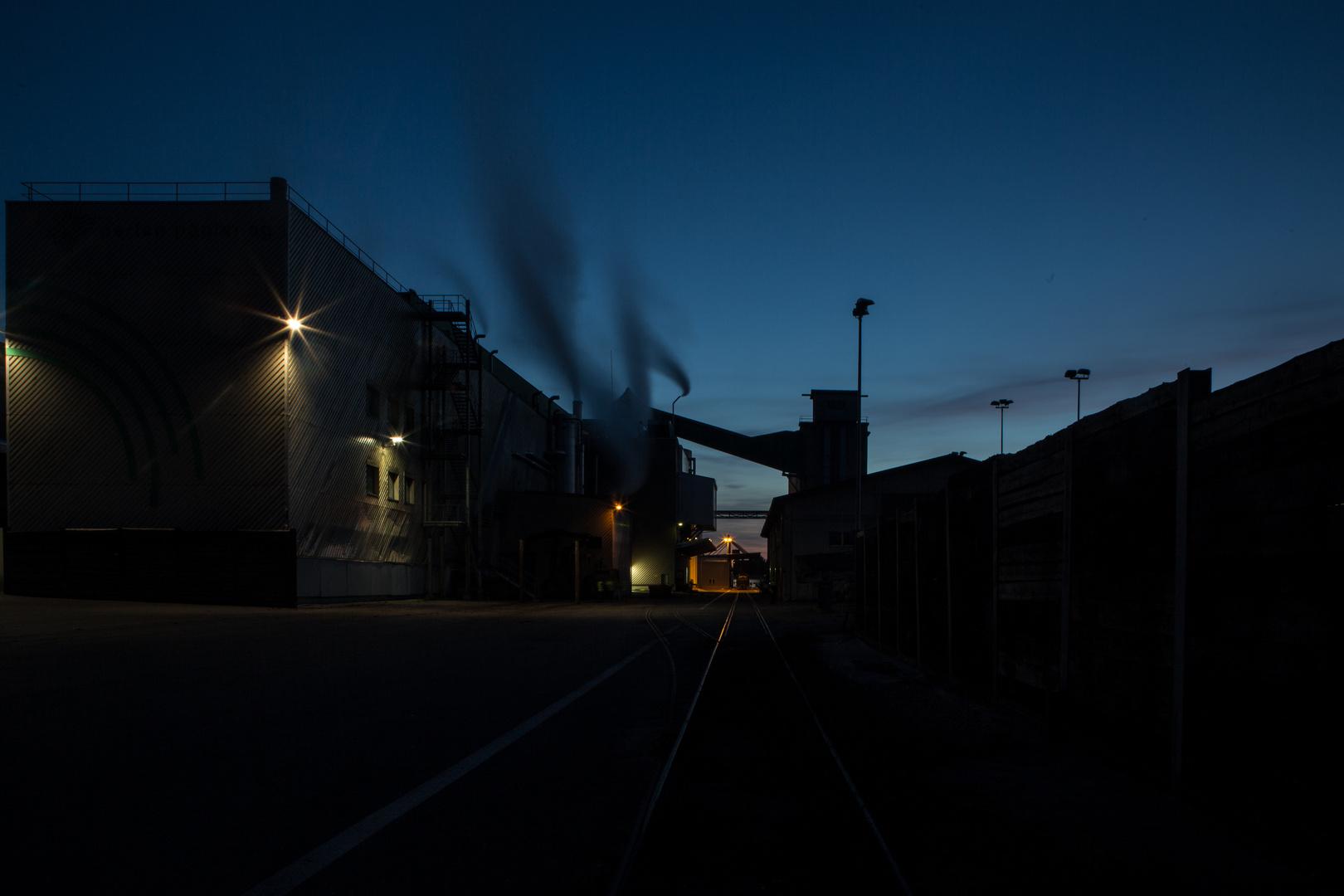 Papier Perlen AG: Blaue Stunde I