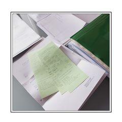 Papiere ordnen
