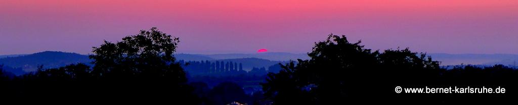 Pappelallee zum Sonnenaufgang