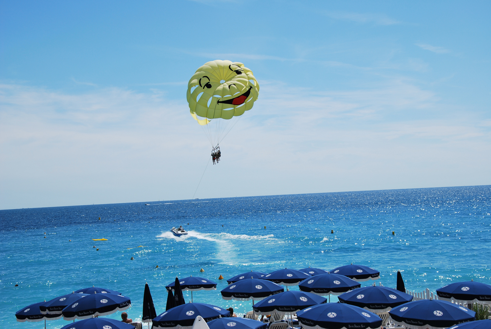 Parachute at the beach in Nice France