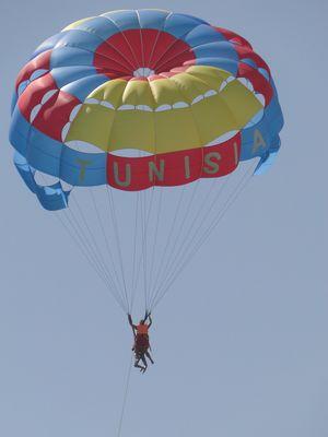 Parachute au bord de plage
