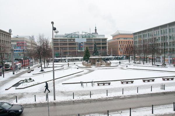Paradeplatz mit Schnee