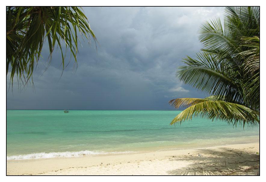 Paradiesische Gewitterwolken