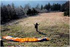Paraglider Begins Take-Off Run