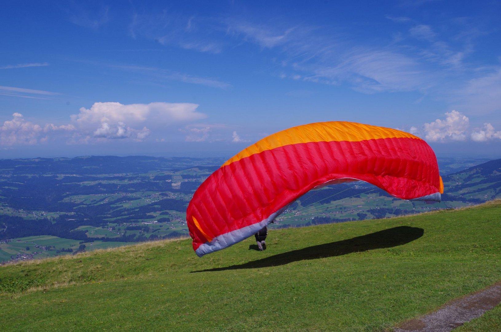 Paraglider im Bregenzer Wald