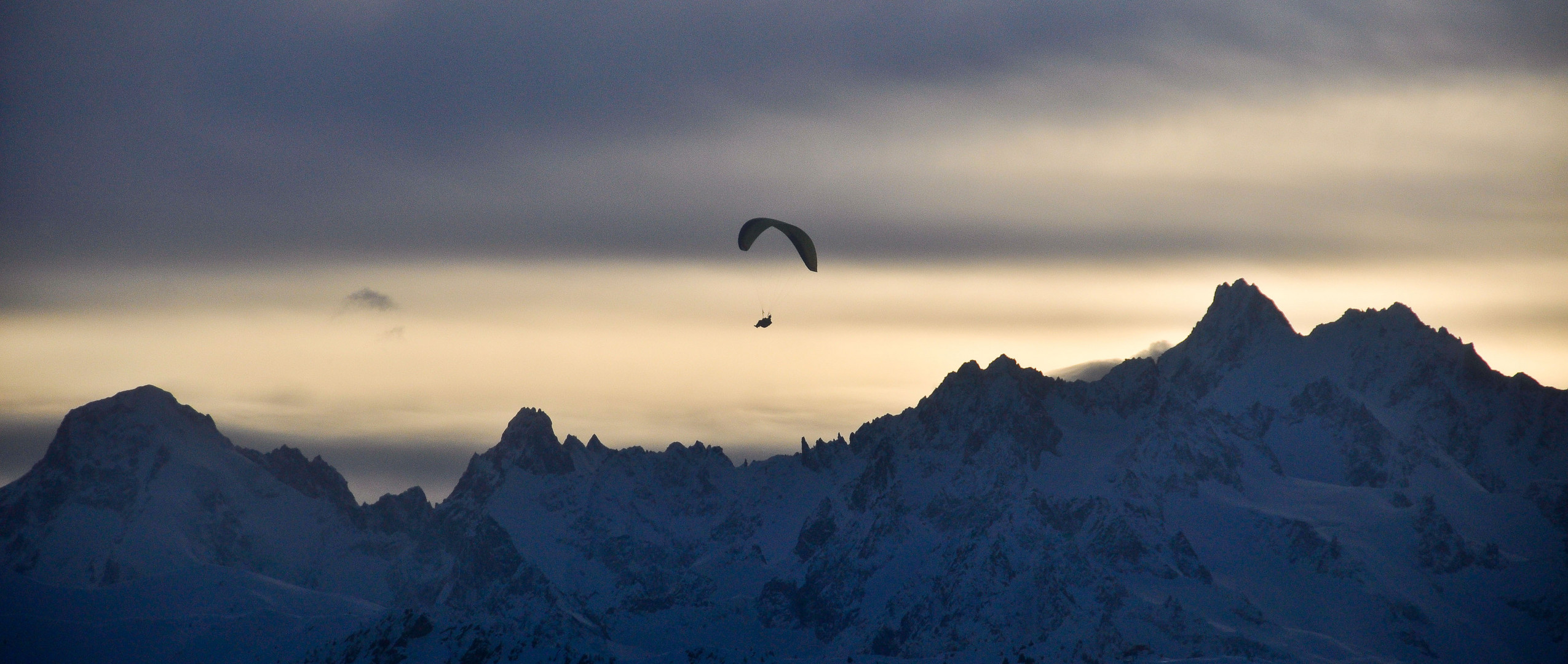Paragliding over the mountains...