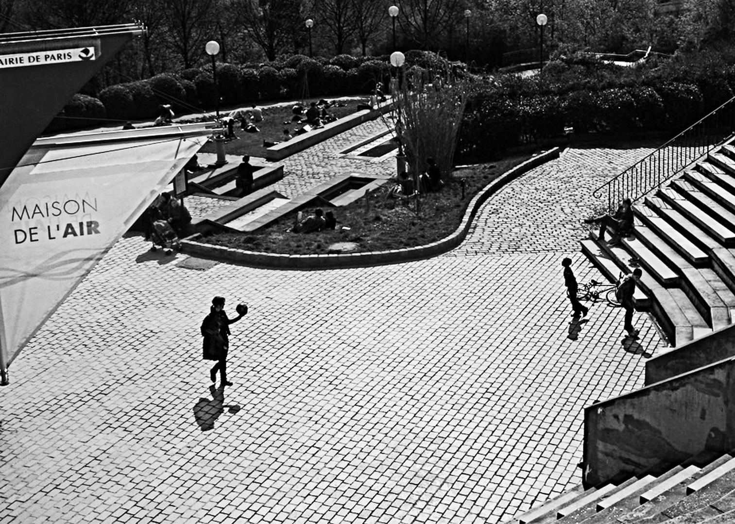 Parc Belleville Paris, avril 2010