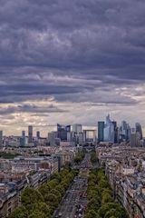 Parigi. La Defense dall'Arco di Trionfo