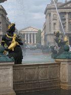 Parigi la Magdalen vista....... da una fontana