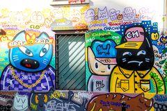 PARIS 10e Graffitti 3 Katzen