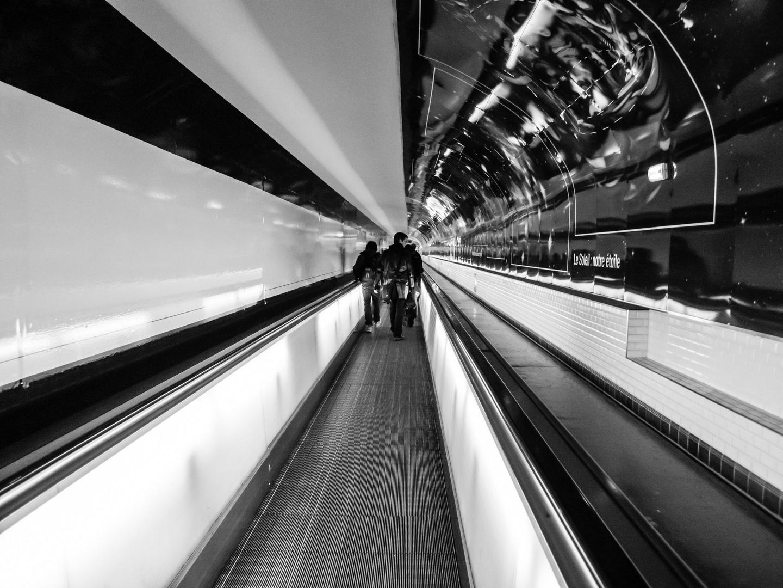 Paris B&W - el metro 1