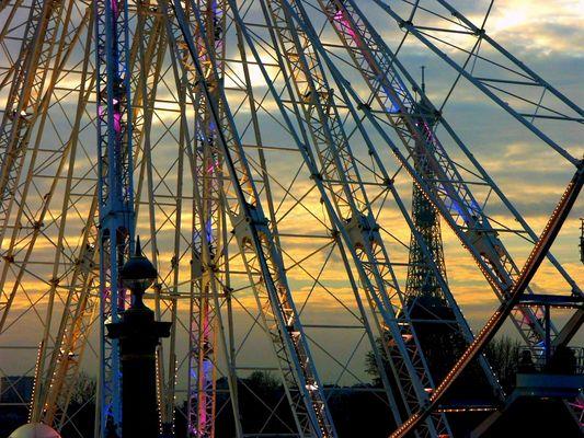 Paris: coucher du soleil
