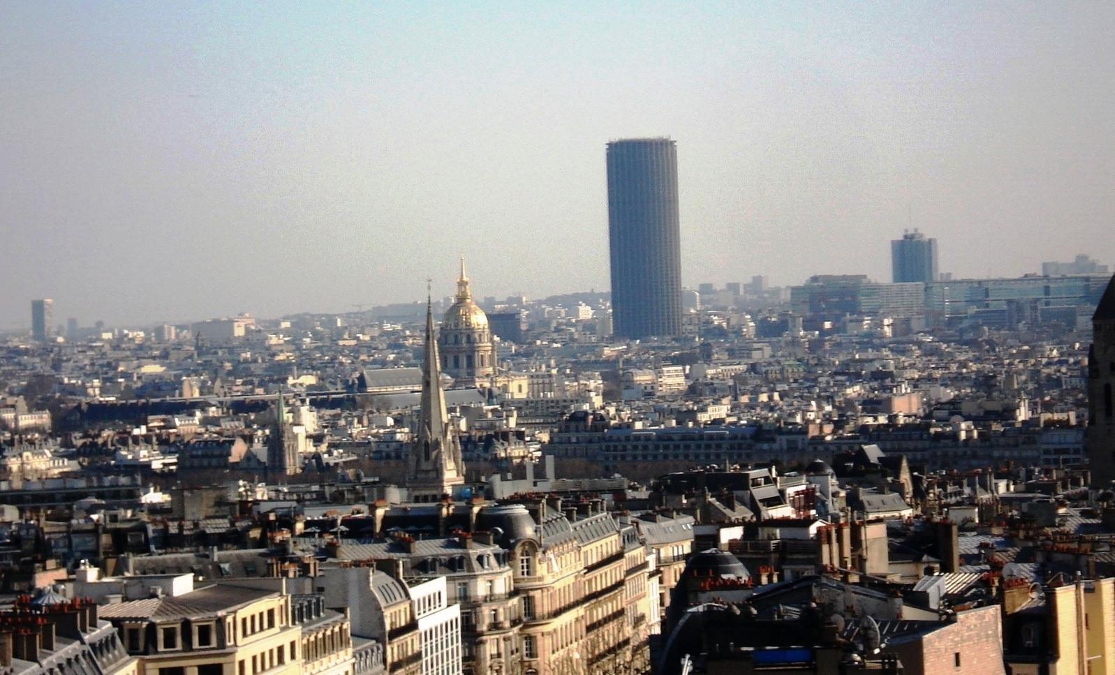 Paris- Foto q tirei do alto do Arco do Triunfo