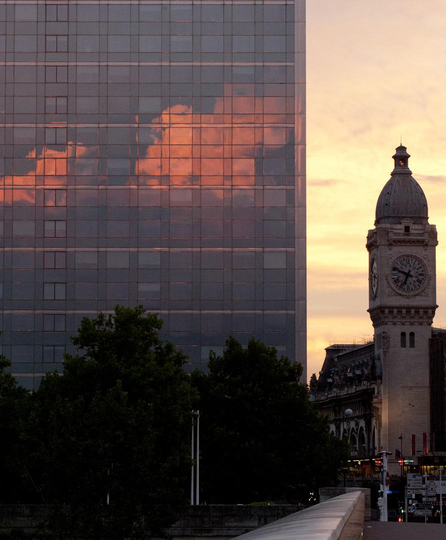 Paris gare d'austerlitz, lever du soleil 6
