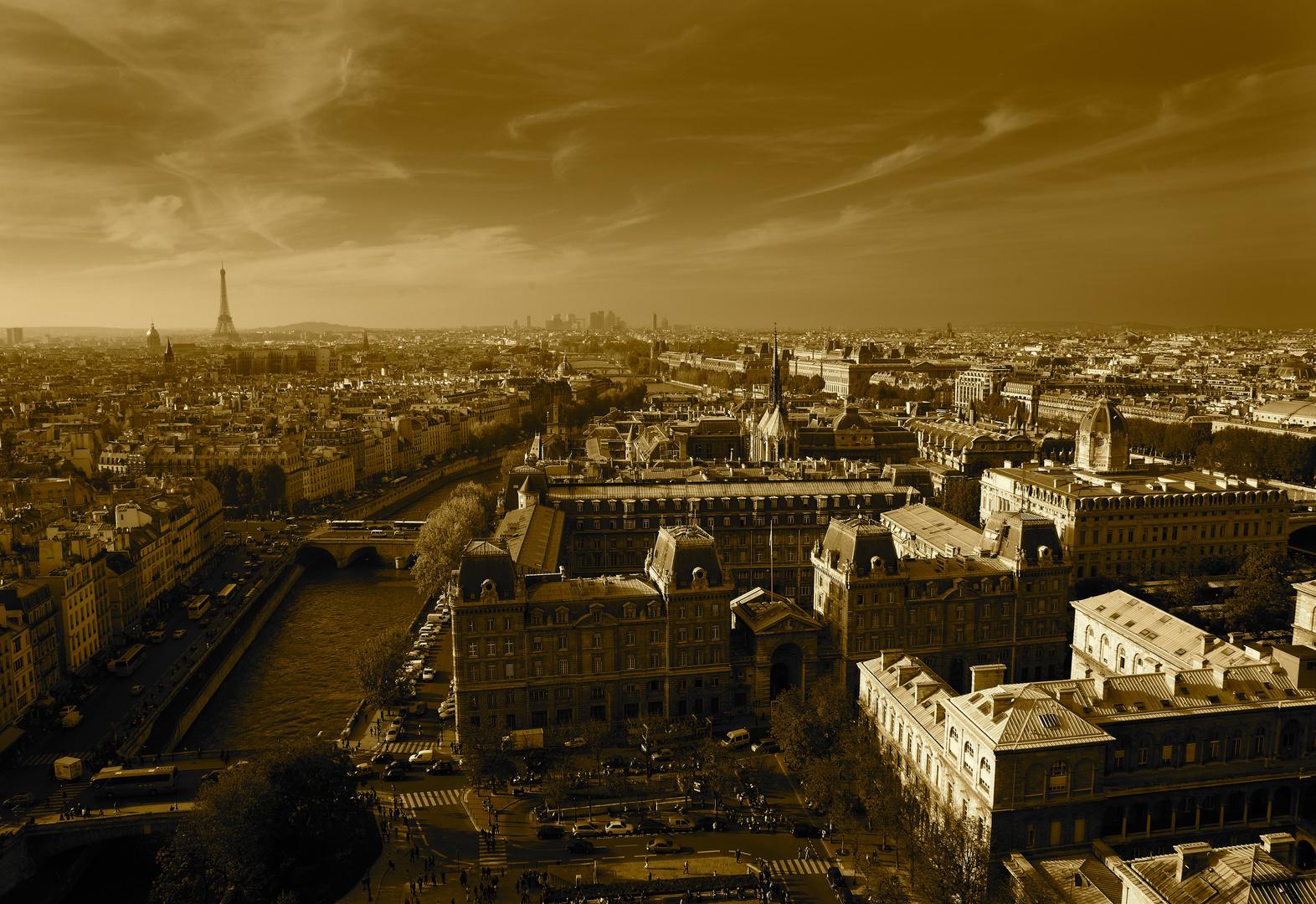 Paris, hors du temps. Pris depuis les tours de Notre Dame.