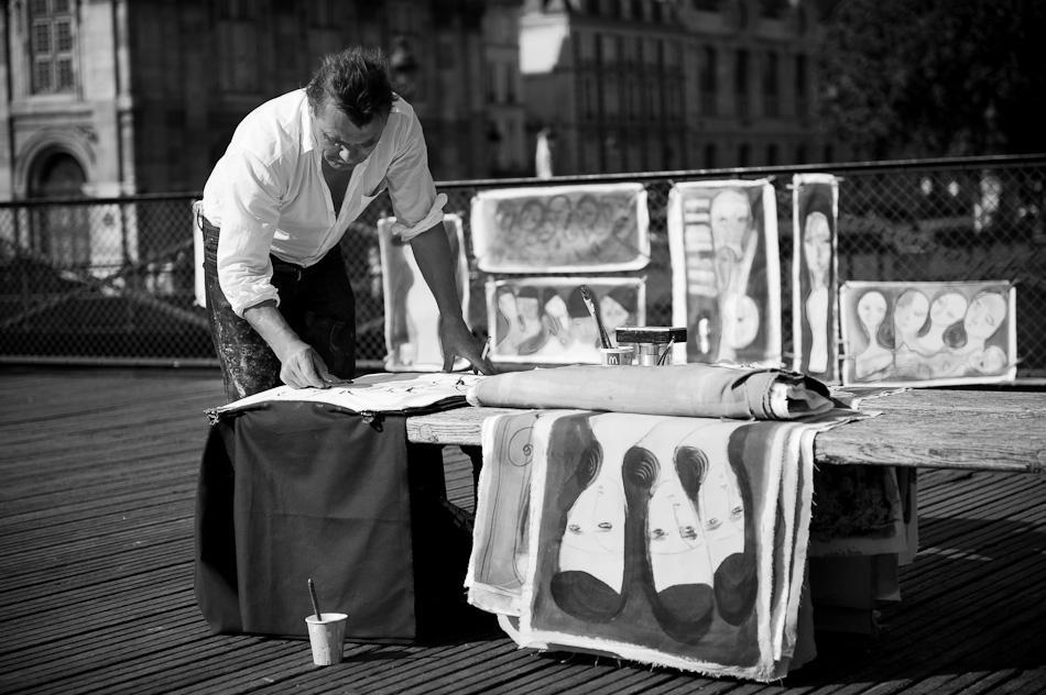 Paris - Künstler auf der pont des Arts