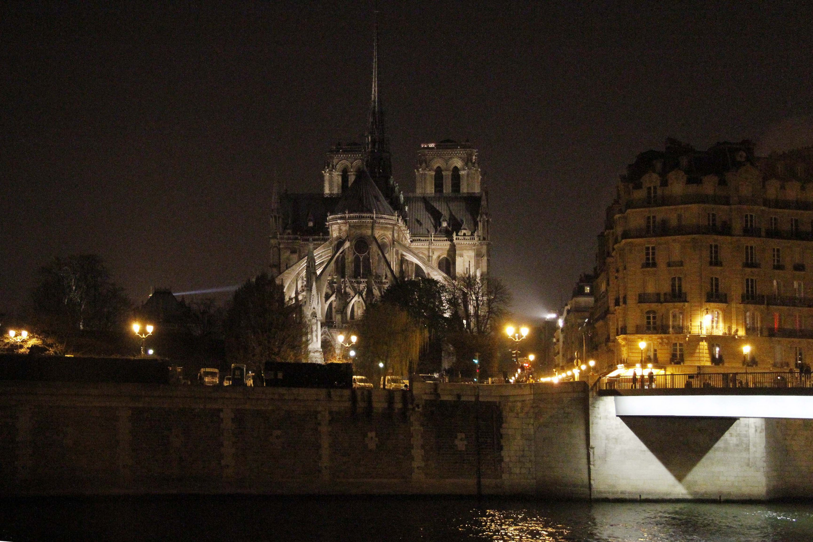 París, La Seine et Nôtre Dame, marzo 2012