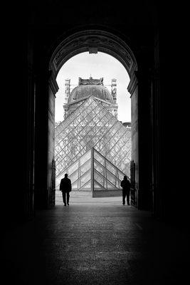 Paris, Le Louvre Porte Egyptienne 2014