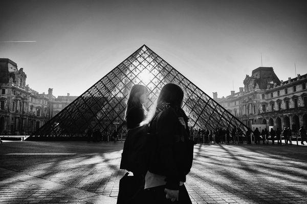 Paris, Le Louvre Pyramide 2014