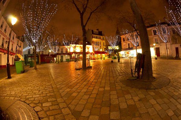 Paris, montmartre tôt 3