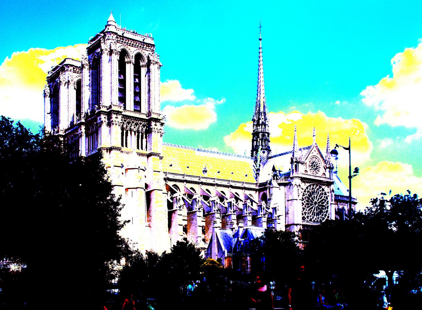 Paris: Notre-Dame im Stile der Souvenir-Künstler