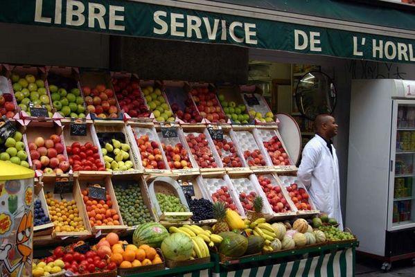 Paris- Obstverkäufer