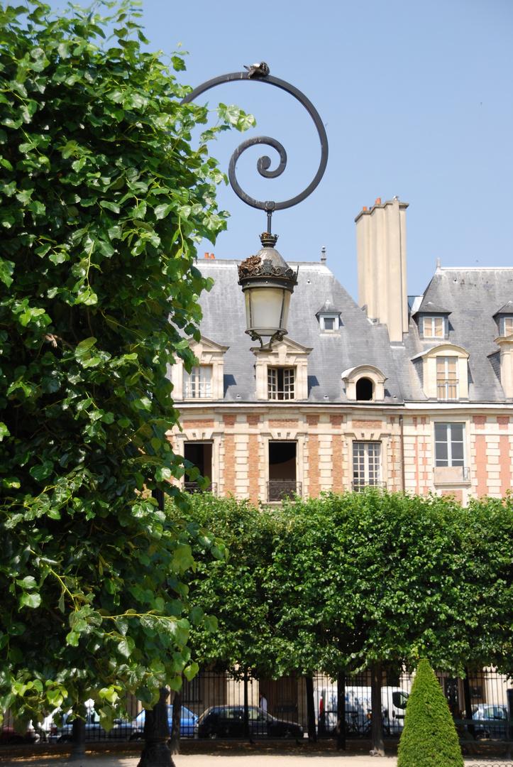 Paris, Place des Vosges, Detailaufnahme