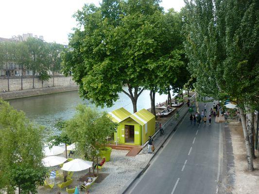 Paris plage sur les bords de Seine