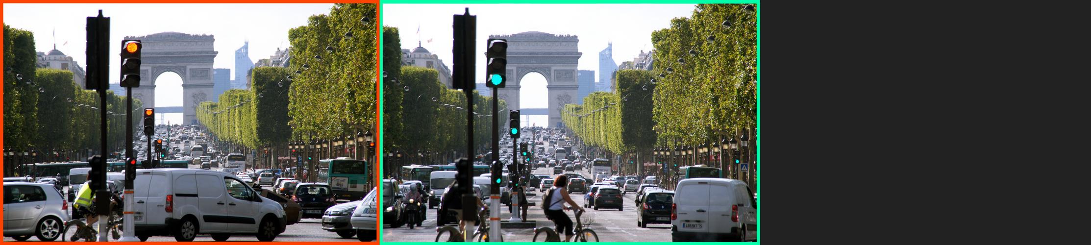 Paris: Rot und Grün