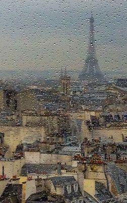 Paris under rain