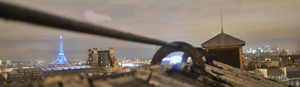 paris , vue des toits ..