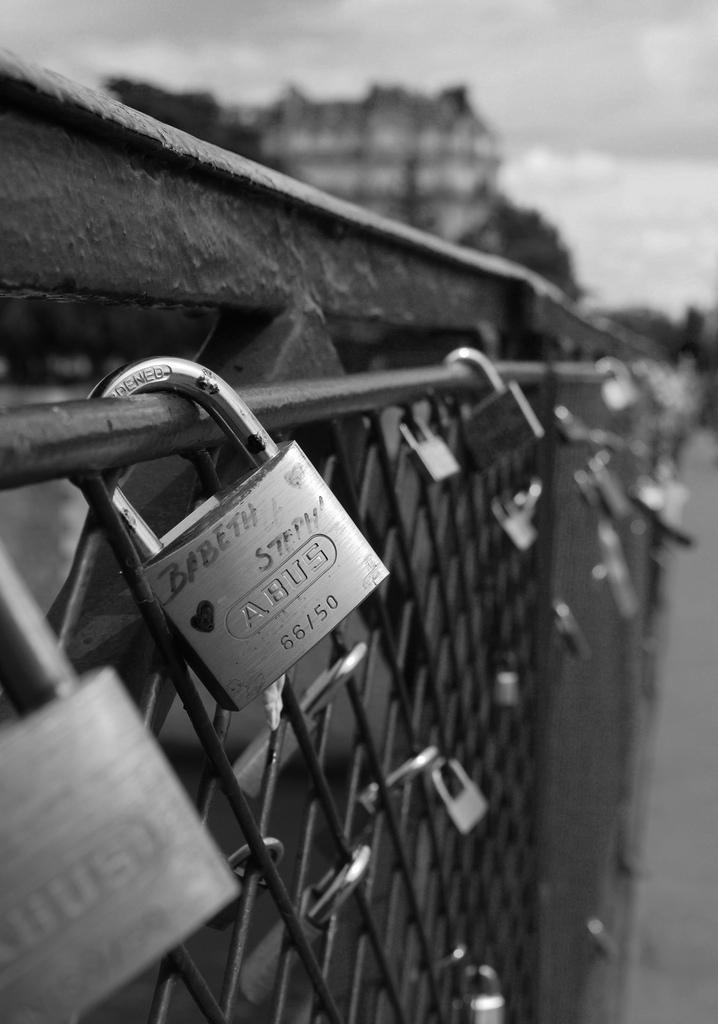 Paris.Puente de los candados