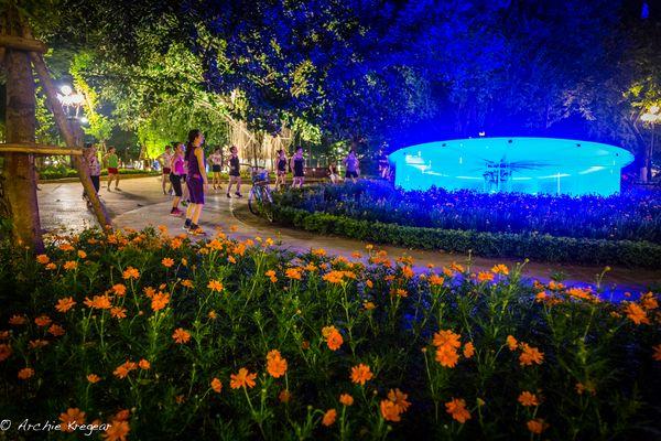 Park around Ho Hoan Kiem lake #2