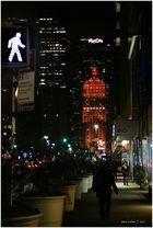 Park-Avenue Bummeln bei Nacht