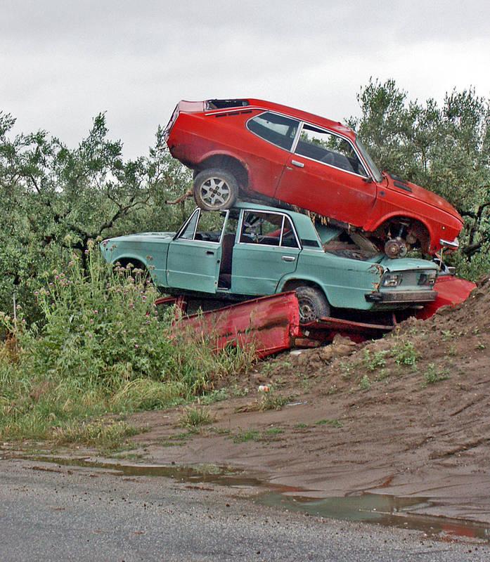Parkplätze sind überall knapp ...