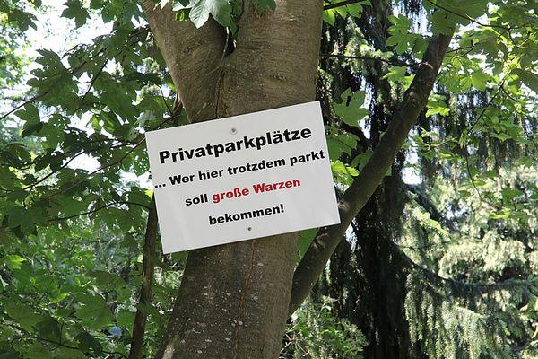 Parkplatz adé