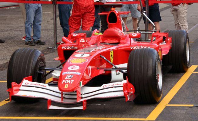 Parkplatz Ferrari